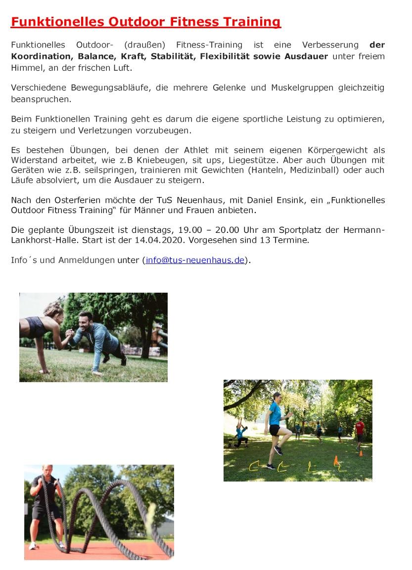 Outdoor-Fitness --> am 14. April 2020 geht es los